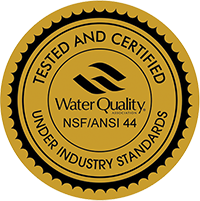 WQA Seal Certified water filtration system seal